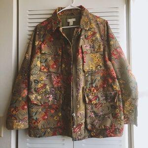Floral utility jacket
